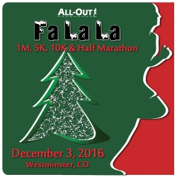 All-Out Fa La La 1 / 5 / 10 / Half- 2016 logo