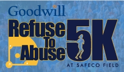 Goodwill Refuse to Abuse 5K at Safeco Field logo