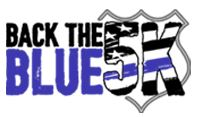 Back the Blue 5k logo